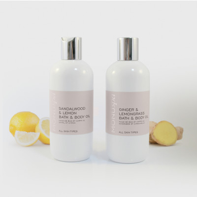 Spa BODY OIL Duo with props